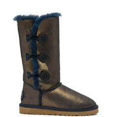"UGG BAILEY BUTTON TRIPLET II BOOT ""NAVY/GOLD"", 37"