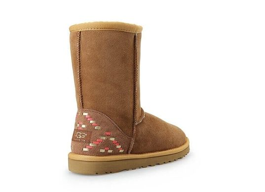 "UGG CLASSIC SHORT II BOOT ""CHESTNUT ORNAMENT"", 36"