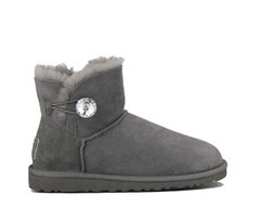 "UGG MINI BAILEY BUTTON BLING BOOT ""GREY"", 40"